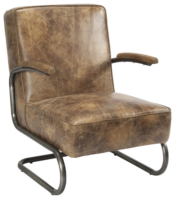Perth Club Chair Light Brown Industrial Armchairs And Accent Chairs