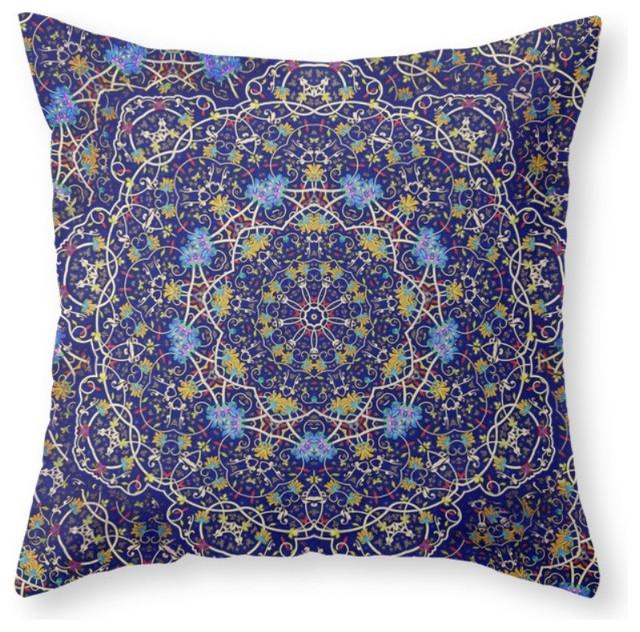 Society6 Nine Sided Ornamen, Throw Pillow - Mediterranean - Decorative Pillows - by Society6