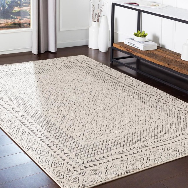 Surya Bahar Bhr 2321 Transitional Area Rug Scandinavian Area Rugs By Rolledrugs