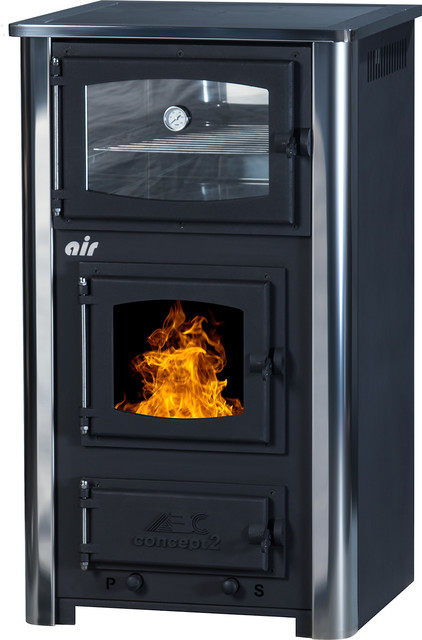 Wood/Coal Burning Cook Stove Concept 2 Mini Air transitional-freestanding- stoves - Wood/Coal Burning Cook Stove Concept 2 Mini Air - Transitional