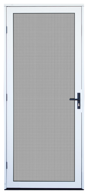 Aluminum Security Screen Door white surface mount aluminum meshtec security screen door