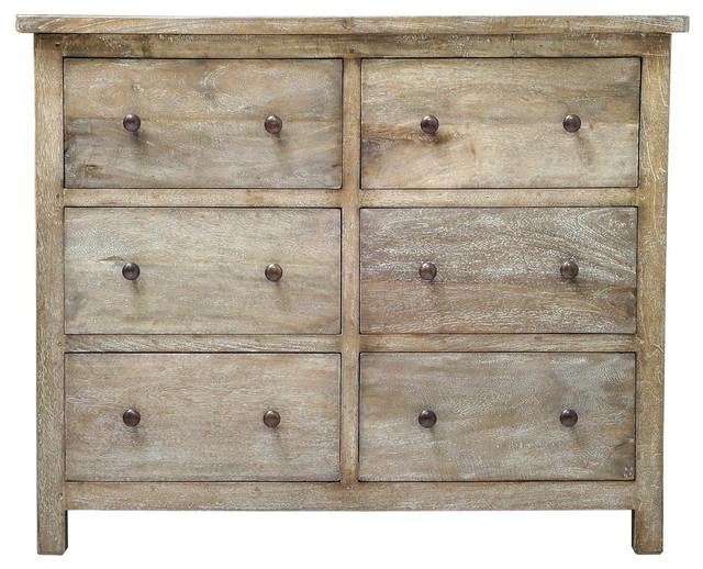 Yuma Dresser - Rustic Mango Grey Wash.