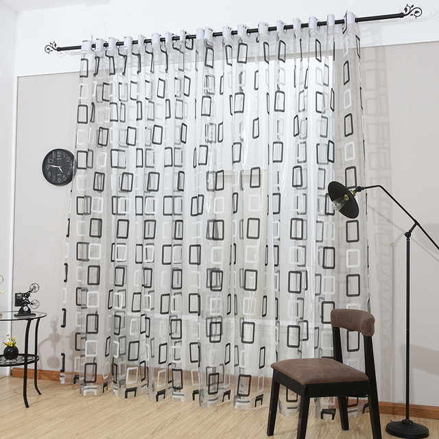 Modern Sheer Curtain Panels 60 X 100 Inch Tall Window Treatments By Dolce Mela.