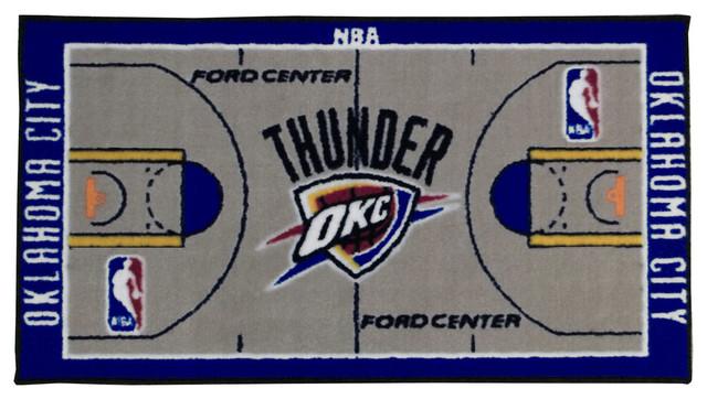 Great NBA Oklahoma City Thunder Rug Basketball Runner Carpet  Contemporary Hall And Stair