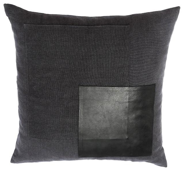 Charcoal Grey Decorative Pillows : Manhattan pillow cover, Charcoal grey - Contemporary - Decorative Pillows - by Nuba Malibu