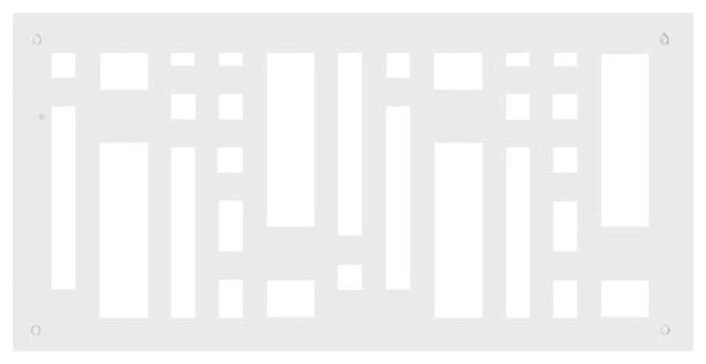 "Frank Lloyd Wright 6""x14"" Aluminum Stars And Moonbeams Grille, White-Gloss."