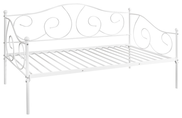 Furinno Angeland Carca Metal Daybed Twin Size White Traditional Daybeds By Furinno Houzz