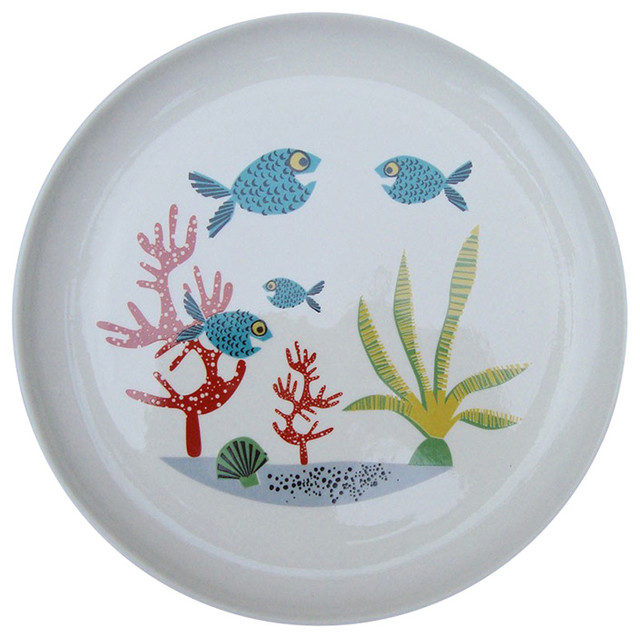 Fish Side Plate, 4 Fishes