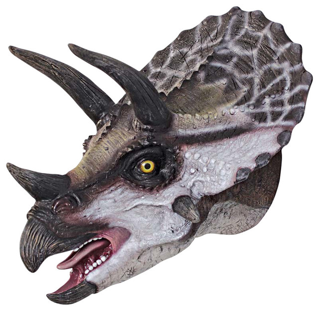 Scaled Triceratops Head Wall Trophy