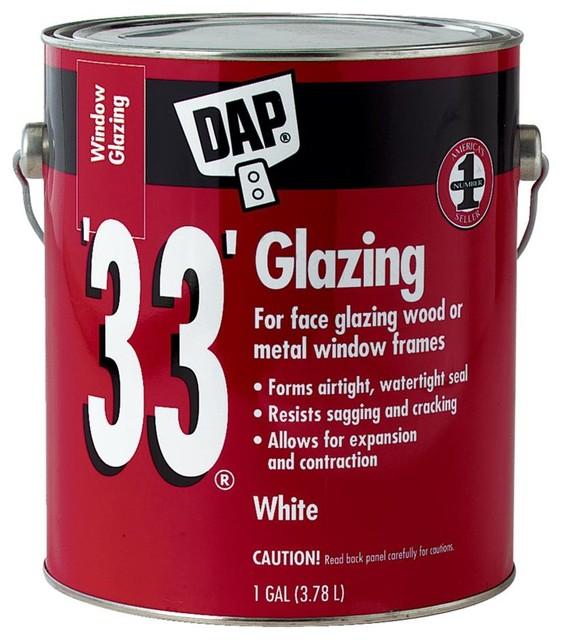 DAP White Glazing Compound 12019, 1-Gallon
