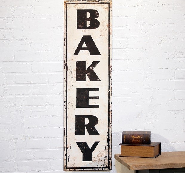Large Distressed Metal Bakery Sign Miami By Antique Farmhouse Houzz Uk