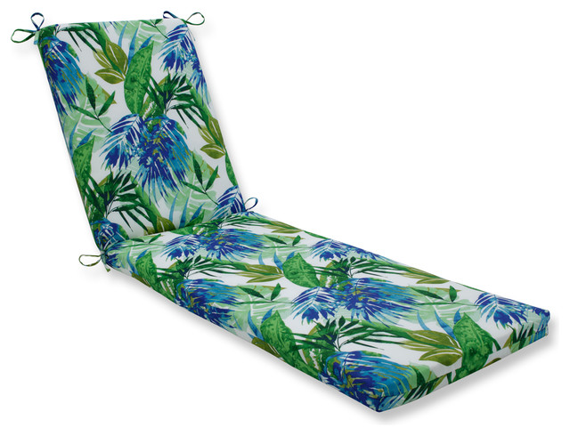 Soleil Blue/green Oversized Chaise Cushion.