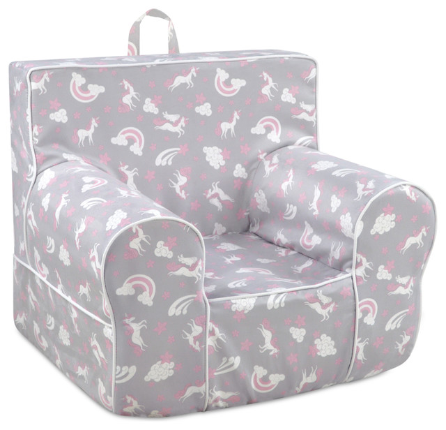 Classic Kidu0027s Grab N Go Foam Chair With Handle, Unicorn Dreams With White  Welt   Contemporary   Kids Chairs   By Kangaroo Trading Company, Inc.
