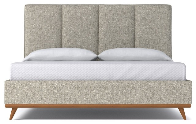 Carter Upholstered Bed, Straw, Full.