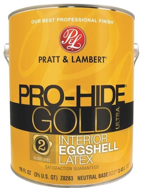 Pratt And Lambert Pro Hide Gold Ultra Latex Eggshell Interior Wall Paint Paint By Hipp