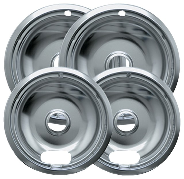 Range Kleen 10142xn Universal Chrome Drip Pans, Style A, Multipack.