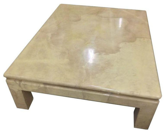 J Robert Scott Goatskin Coffee Table Karl Springer   $15,000 Est. Retail    $2,