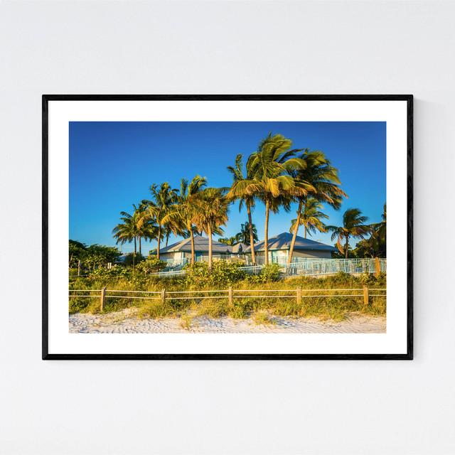 Fort Myers Beach Florida Palms Art Print Tropical