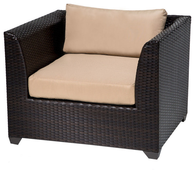 TKC Barbados Outdoor Wicker Club Chair In Wheat