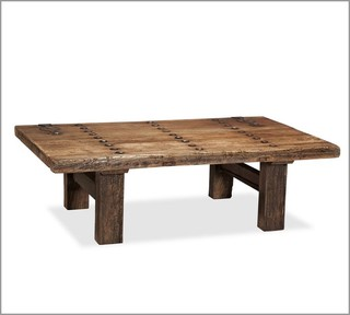 Hastings reclaimed wood coffee table eclectic coffee Eclectic coffee table makeovers