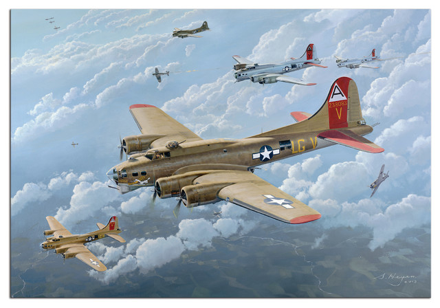B-17 Flying Fortress Airplane Plane Fighter Jet Metal Sign