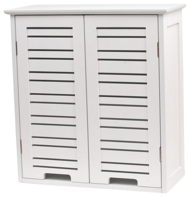2-Door Bathroom Wall Cabinet - Beach Style - Bathroom Cabinets And Shelves - by EVIDECO