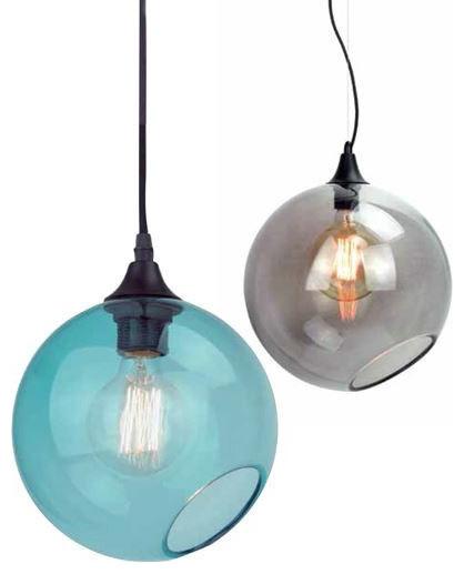 Rascher Gl Pendant Lamp Smoke Gray Large Contemporary Lighting