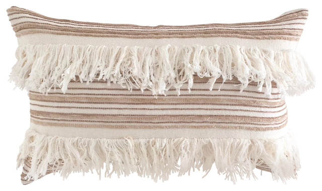 Moroccan Wedding Boho Pillow Cover, Fringe.