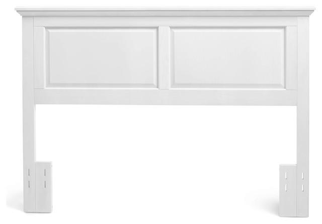 Rosemary Wooden Headboard, Gloss White, Full/queen.