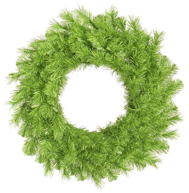 "Lime/green Tinsel Wreath, 180 Tips, 30""."