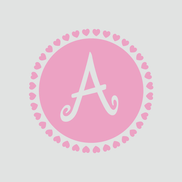 Monogram Baby Nursery Wall Decal In Soft Pink