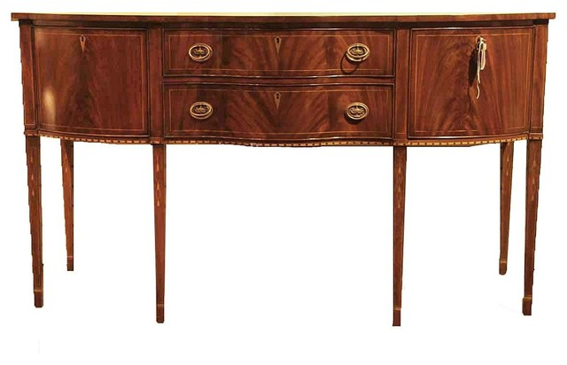 Hepplewhite Style Mahogany Sideboard For The Dining Room