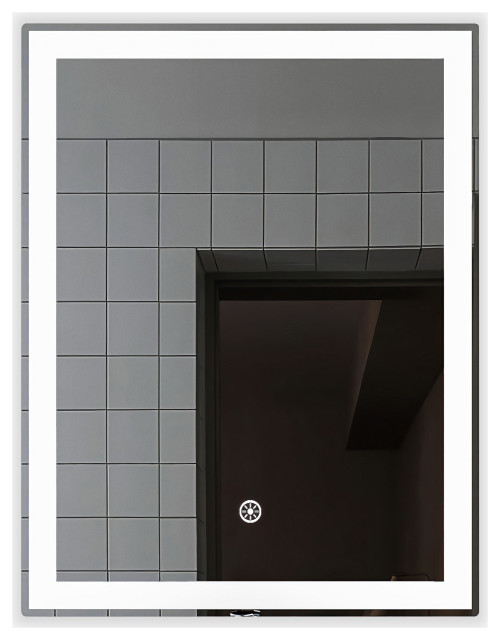 """Radiant Dimmable LED Mirror with Defogger, 24""""x36"""""""