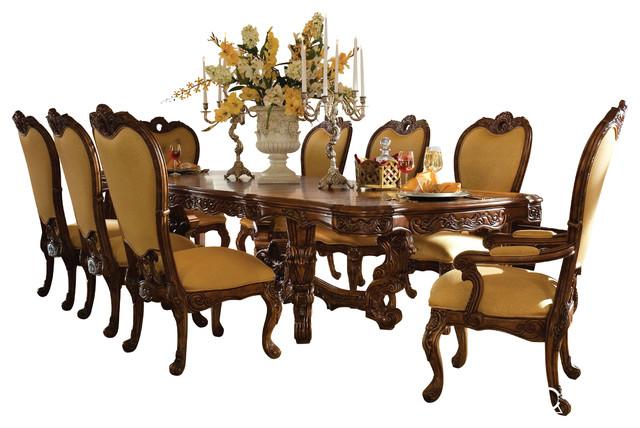Palais Royale 7 Piece Rectangular Dining Room Set Rococo Cognac