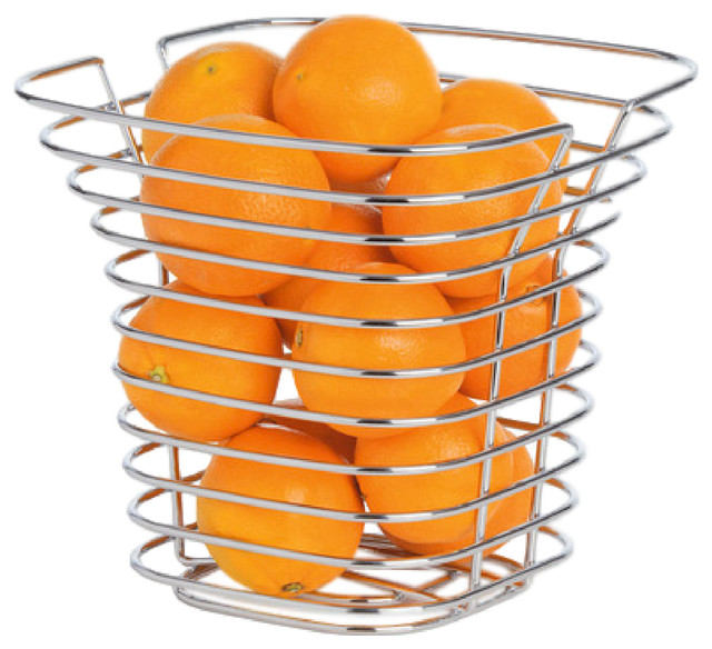 Tall Wire Basket Modern Fruit Bowls And Baskets By