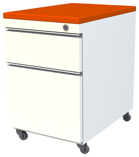 Mobile Pedestal Box File With Cushion Top - Contemporary - Filing Cabinets - by SCALE 1:1