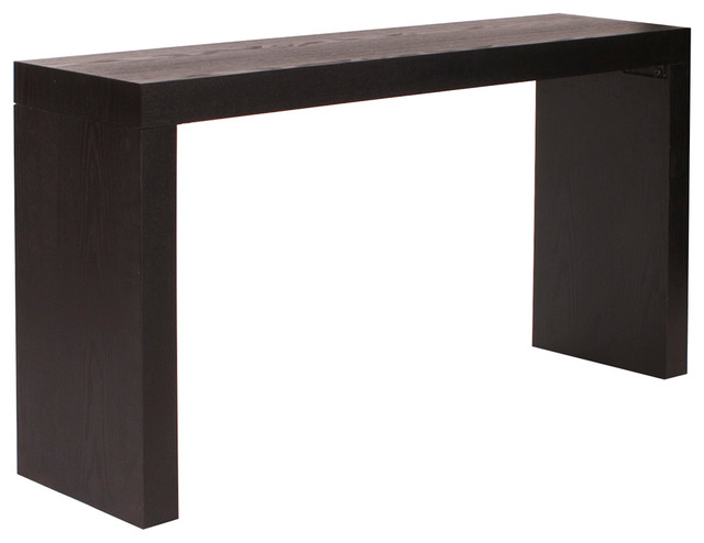 Howard Elliott Jennifer Wood Grain Veneer Console Table Decor.