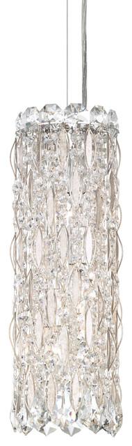 Schonbek Lighting Sarella Antique Silver Pendant.