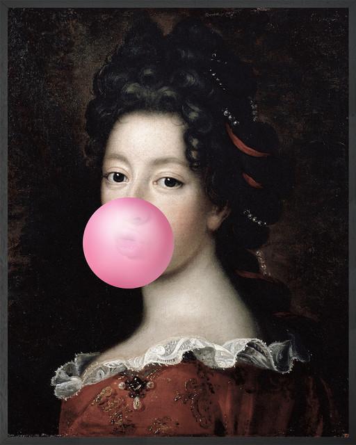 Bubblegum Framed Portrait, 81x102 cm