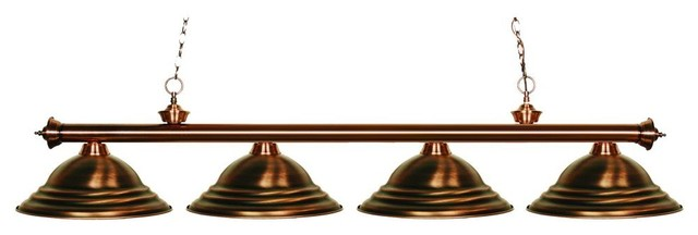 Four Light Antique Copper Antique Copper Shade Pool Table Light Industrial  Pool Table