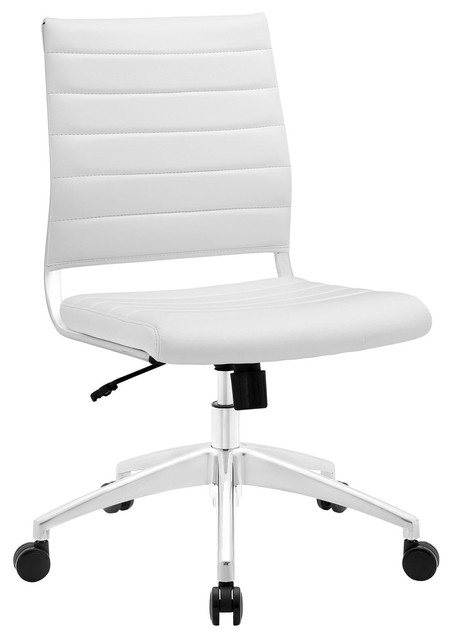 Jive Armless Mid Back Office Chair, White