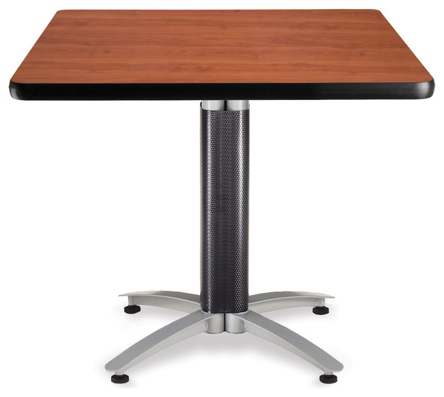 square mesh base table 36 cherry contemporary home office furniture