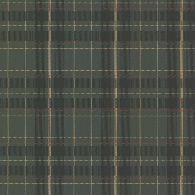 Caledonia Dark Green Plaid Wallpaper Bolt