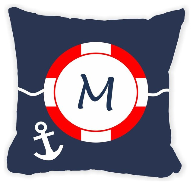 Letter M Throw Pillow : Letter