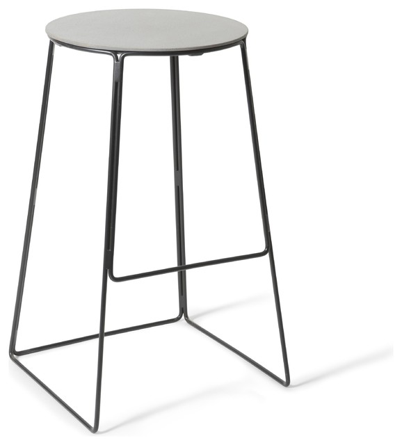 Edie Concrete and Steel Bar Stool