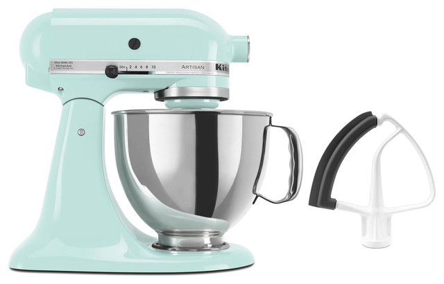 Artisan Series Tilt-Back Head Stand Mixer And Flex Edge Beater, Ice Blue.