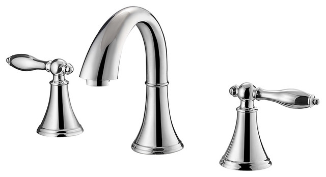 Florence Two Handle 8 Inch Widespread Bathroom Faucet Traditional Bathroom Sink Faucets By Vinnova
