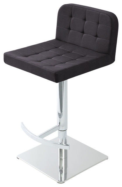 Admirable Lara Piston Stool Chrome Base Gray Ppm Pdpeps Interior Chair Design Pdpepsorg