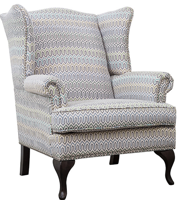 Marvelous Perseus Wingback Accent Chair Geometric Print Fabric Bralicious Painted Fabric Chair Ideas Braliciousco