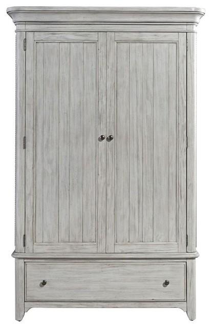 Antique White Wardrobe Armoire